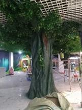 水泥假山假树制作